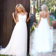 summer wedding dresses spaghetti tulle summer wedding dress new arrival 2018 a line