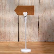 Diy Table Number Holders White Heart Wooden Peg Table Number Place Marker Diy Wedding Shop