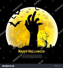 halloween moon background happy halloween design zombie hand bats stock vector 316291763