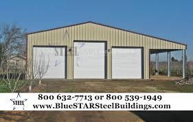 Garage With Carport Low Cost Garages Bluestar Steel Buildings