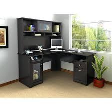 Black Ash Computer Desk Desk 33 Black Antiqued L Shaped Corner Desk With Included Hutch
