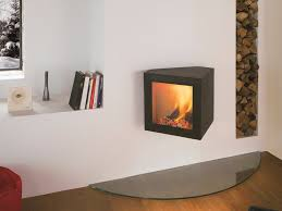 wood burning wall wood burning wall mounted fireplace cubifocus by focus creation