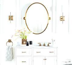 Oval Mirrors For Bathroom Pottery Barn Bathroom Mirrors Freeiam