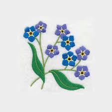 machine embroidery designs for kitchen towels forget me not flower tea towel alaska state flower embroidered