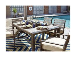 signature design by ashley peachstone outdoor dining table w fire