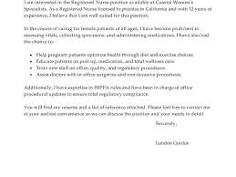 rn cover letter examples cover letter nurse operating room nurse