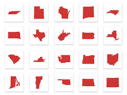All Fifty States 50 Us States Includes Applique And Stitched Embroidery Designs All