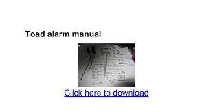 toad alarm manual google docs