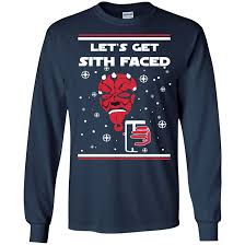 wars christmas sweater lets get sith faced shirt long sleeve