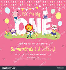 many stock birthday party invitation card vector creation 1st birthday party invitation card stock vector 201449834