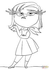 inside out disgust coloring page free printable coloring pages