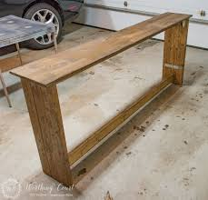 sofa table sofa diy rustic sofa table 1 19 diy rustic sofa table