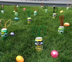 Easter Egg Yard Decorations by Beer Bunny Or Pop Can Easter Egg Hunt With Pictures