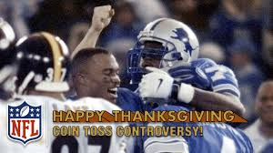 thanksgiving nfl football schedule phil luckett botches jerome bettis ot coin toss 1998 nfl on