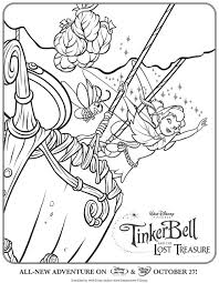 tinkerbell and the lost treasure coloring pages coloring home