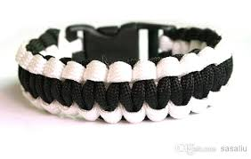 black survival bracelet images Black white paracord bracelet outdoor bracelet 550 survival escape jpg