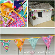 little housewife how to sew double sided bunting flags