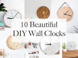beautiful clocks 10 beautiful diy wall clocks life on waller