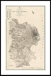san francisco map framed california map framed prints america
