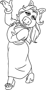 miss piggy coloring pages