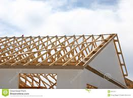 wooden roof frame stock images image 11828214