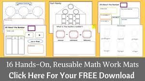 16 hands on reusable math work mats for kindergarten growing