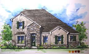 architectural rendering series french country elevation time