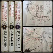 Lord Of The Rings Map 1965 2nd Edition Lord Of The Rings Hardcover With Maps Lotr