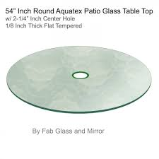 48 inch glass table top aquatex patio round glass table top flat tempered w 2 1 4 hole 48