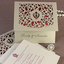 asian wedding invitation luxury intricate lace laser cut sikh overlap fold indian hindu