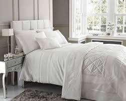 ivory cream colour faux silk stylish lace trim duvet cover luxury beautiful bedding