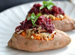 leftover turkey stuffed sweet potatoes the realistic nutritionist