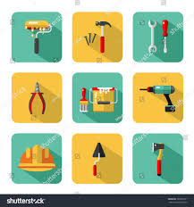 vector icons set construction tools hammer stock vector 383801671