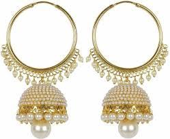 jhumki earring flipkart buy meenaz kundan pearl jhumki earrings for women