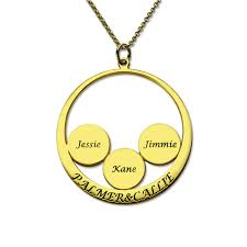 Disc Necklace Aliexpress Com Buy Engraved Couples Pendant With Kids Name Disc