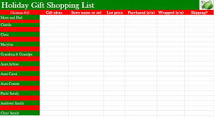 gift shopping list christmas list template cyberuse