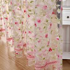Kitchen Curtain Fabrics 2016 Rose Modern Tulle For Windows Shade Sheer Curtains Fabric