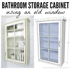 Storage Cabinets Bathroom - remodelaholic bathroom storage cabinet using an old window