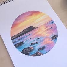 dreamy sunset ema sivac colored pencils 2016 u2026 pinteres u2026