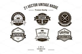 vintage badge template