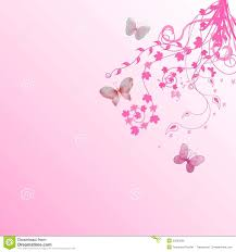 pink floral butterflies background stock illustration