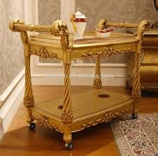Dining Room Cart Fancy French Home Dining Room Wooden Food Service Trolley Luxury