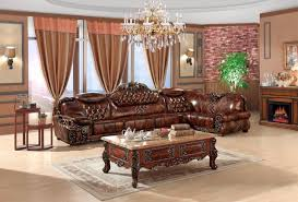 wooden set european leather sofa set living room sofa china wooden frame l
