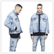 light blue denim jacket mens kanye west mens oversized distressed denim jackets streetwear kanyye