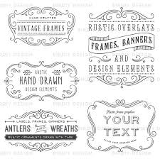 photoshop clipart overlay vintage frames rustic clipart