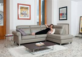 European Sectional Sofas Spectacular Light Grey Italian Leather Upholstered Sectional Los