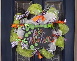 halloween door wreath jack o lantern wreath halloween