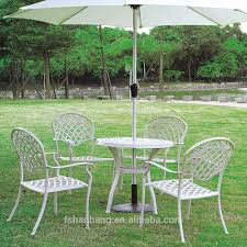 Aluminum Outdoor Patio Furniture by Heavy Duty Dining Table And Chairs White Bronze Anodized Aluminum