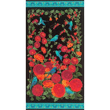 arcadia floral and home decor timeless treasures arcadia metallic floral panel black discount