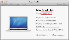 when was your mac built how to find the make model year of a mac